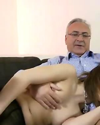Milk skinned brunette Hajni gets her pantyhose cut and fucked hard