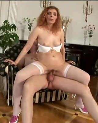 Older redhead mature woman getting fucked by her son friend