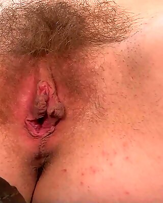 Lass With Glasses Stimulates Hairy Cunt - Nickey Huntsman