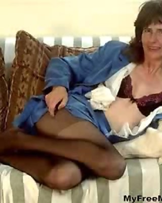 Mature  Strips Bra N Pantyhose mature mature porn granny old cumshots cumshot