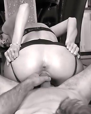 Kinky Canadian Milf Rides Hard Cock in Cowgirl in Stockings!