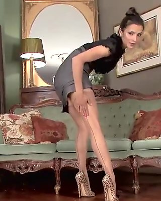 Fucked Latina In Leopard Print Pantyhose