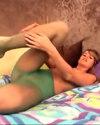 Ashton Gray pantyhose ripping