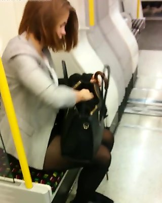 pantyhose girls in metro