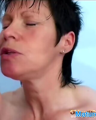 Big Tit Granny Takes Her Time Sucking
