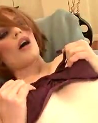 Amazing Red Head Touch Herself