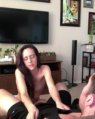 Strip Tease Turns to Sucking and Fucking