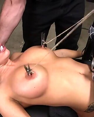 Huge tits slave mouth and ass fucked