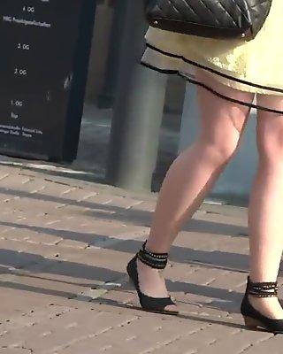 candid high heels nylon pantyhose mature womans