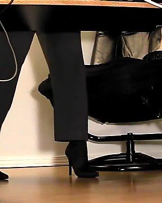Compilation of secretary legs and masturbatio
