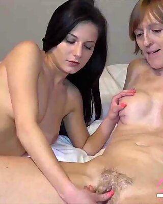 OmaHunteR Sexy Teen Chick and Mature Lady