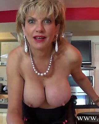 Jerkoff instructions with British Milf Lady Sonia