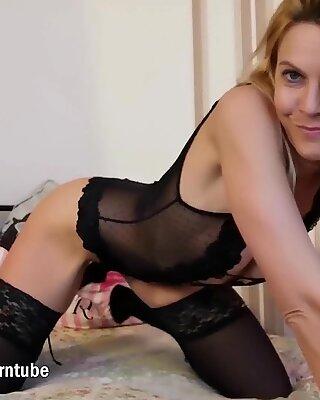 MyDirtyHobby - Big black dildo for blonde German MILF