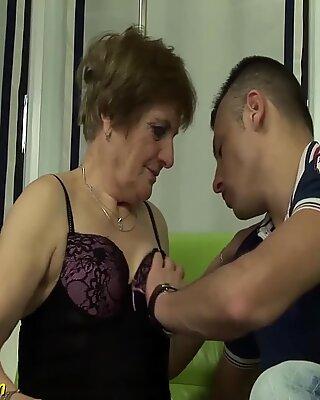 redhead granny gets deep fucked