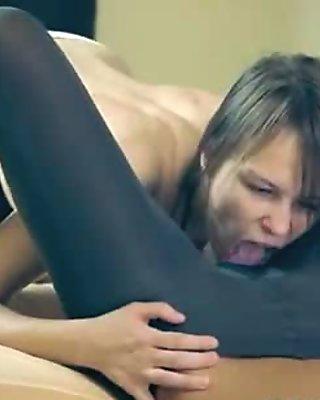 Amazing enchanting lesbians in pantyhose