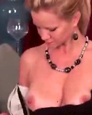 Busty Soccer Mom Masturbates Nylons Porn