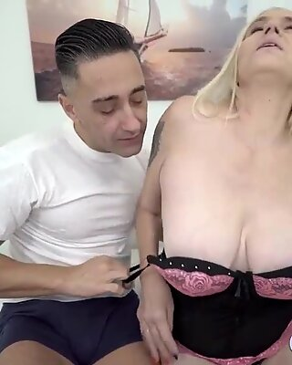 Granny With Big Natural Tits Getting Fucked Hard