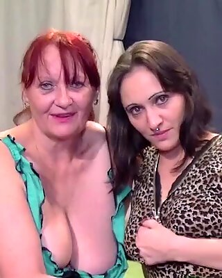 Babe and Granny Sharing Multiple Cocks