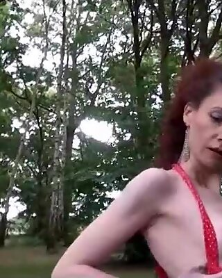 Redheads in public showing off their bodies