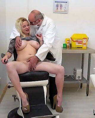 OldNannY, Two Mature Ladies Masturbate With Dildo