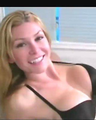 Hottie Heather in black undies seduces