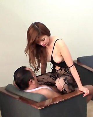 Farmer girl masturbates and sucks her uncle