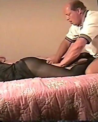 Pantyhose slut wife with boss