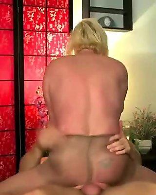 Fairhair in incredible nylon pantyhose video 3