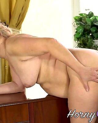 Granny sucking hard cock