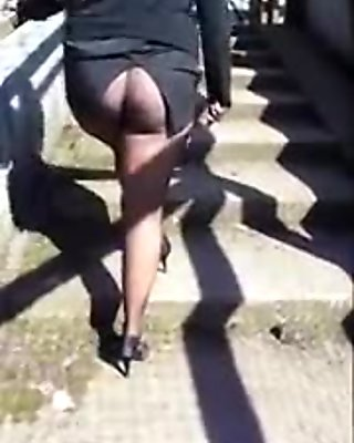 black pantyhose walk