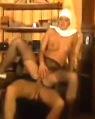 nun in pantyhose fucks the dude real hard
