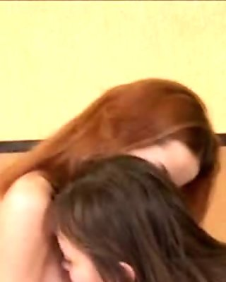 Hot lesbs in pantyhose enjoying strap film 7