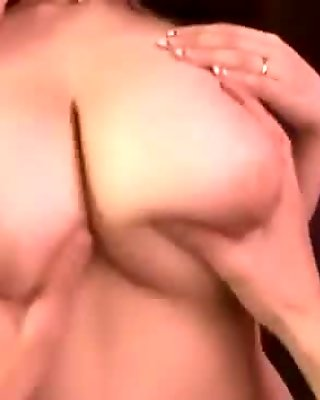 Busty Milf Getting Her Tits Fucked Sucking Guy Cum To Mouth On The Couch In The