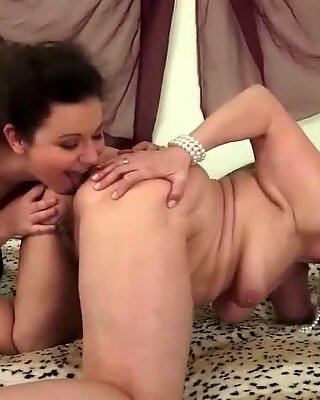 Granny loves hairy young maid