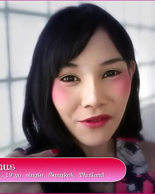 HELLOLADYBOY Skinny Asian Thai LadyBoy Shoves Big Dick In Her Tight Ass