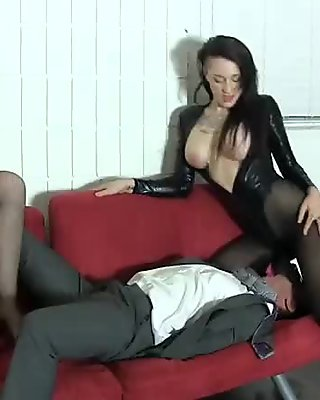 Goth chick and hot friend BALLBUSTING FACE SITTING LESBIANS