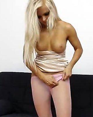 Super blond-haired Jenna Good-looking extreme nylon fetish