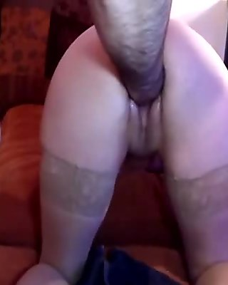 Roughly fisting his GFs insatiable loose pussy
