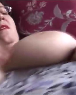 Busty mature milf in pantyhose talks dirty as she strips, teases